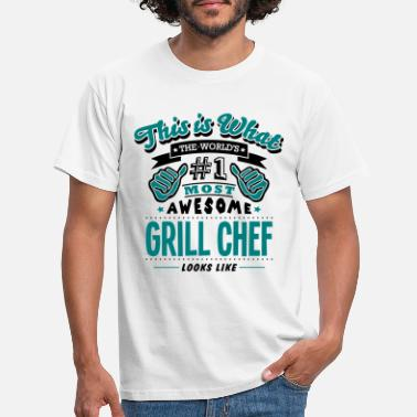 Bbq grill chef world no1 most awesome copy - Men's T-Shirt