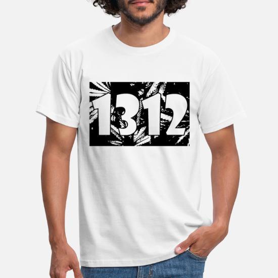 1312 Acab Le légaliser 420 T shirt Homme blanc