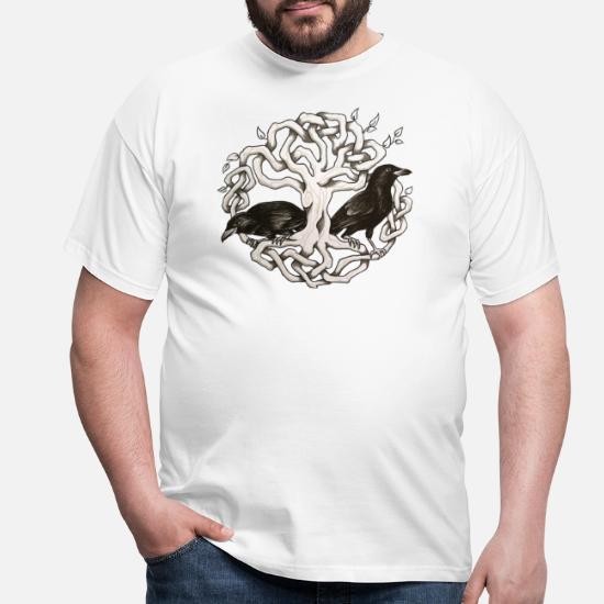 Corbeaux Frères T-shirt Hugin Munin Odin Thorhammer VIKINGS VALHALLA Vikings Runes