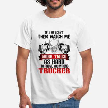 I Love You Trucker, truck driver, truck driver - Men's T-Shirt