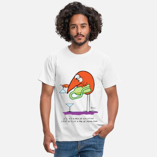Citations T-shirts - Pas de solution pas de problème - T-shirt Homme blanc