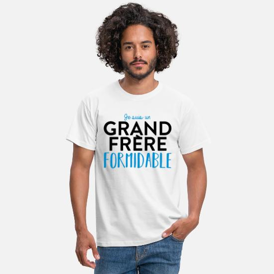 Frère T-shirts - Grand frère formidable - T-shirt Homme blanc