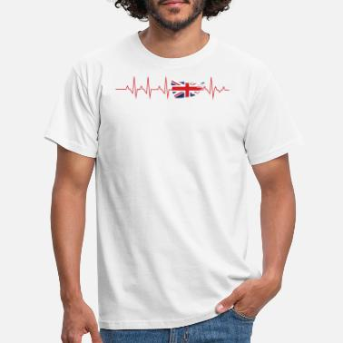 Heartbeat Heartbeat ECG UK England Flag Shirt - Men's T-Shirt