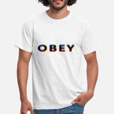 Obey Obey Anaglyphic - Men's T-Shirt