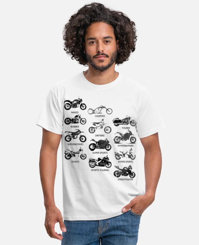 Bobber T-Shirts - Motorcycle Styles - Men's T-Shirt white