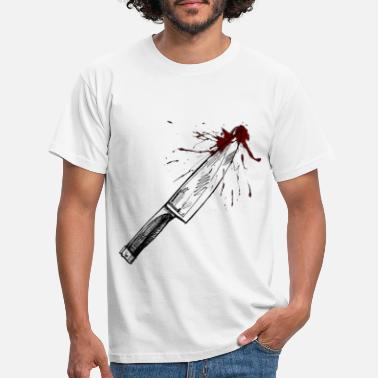 Knife Party bloody knife - Men's T-Shirt