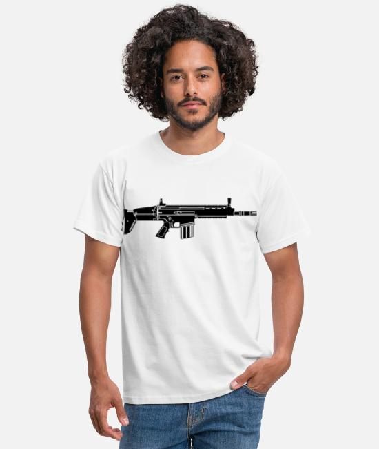 Gun T-Shirts - Rifle - Men's T-Shirt white
