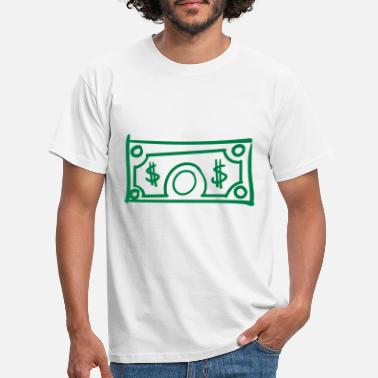 Billete De Dólar Billete de dólar Billete de dólar de Estados Unidos Billete de dólar de billetes - Camiseta hombre