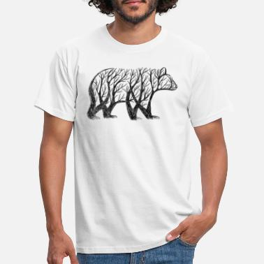 Bear bear made from trees! - Men's T-Shirt
