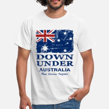 Down Under Australien - Down Under - Vintage Look - Männer T-Shirt