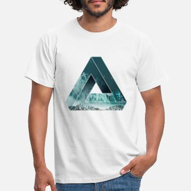 Cool Penrose Optical illusion with nature, cool - Men's T-Shirt