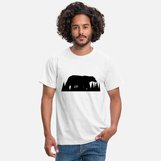 Animal Rights Activists T-Shirts - Bear - Men's T-Shirt white