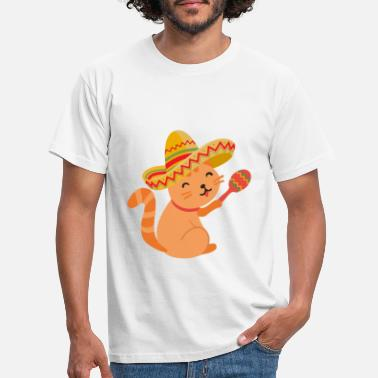 Latino Cat Mexico - Mannen T-shirt