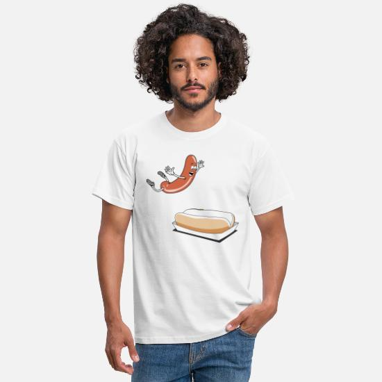 Dog T-Shirts - Happy Hot Dog T-Shirt - Power Rangers - Men's T-Shirt white