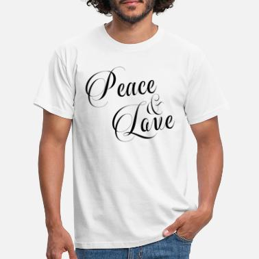 Love PEACE AND LOVE - T-shirt Homme