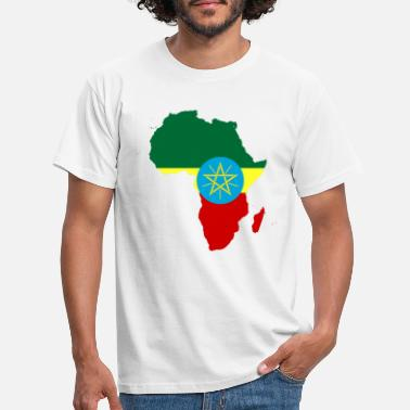 african_flag_map_of_ethiopia - Men's T-Shirt