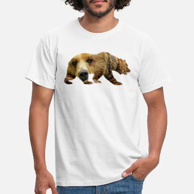 Backside Brown bear - Men's T-Shirt