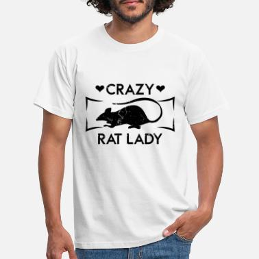 Rat Crazy Rat Lady Funny Animal T-Shirt - Männer T-Shirt