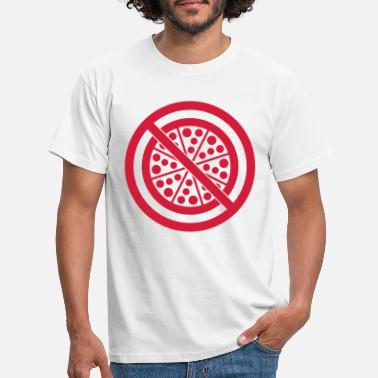 Plate salami pizza forbidden shield delicious hunger food k - Men's T-Shirt