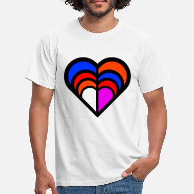 Charity love with a thousand colors I love you - Men's T-Shirt
