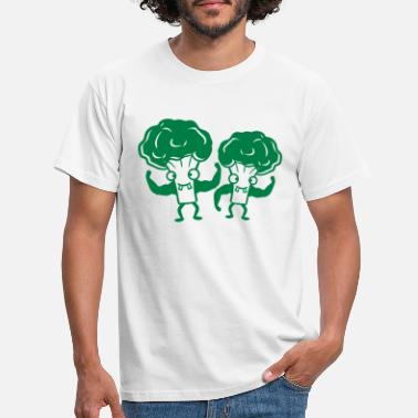 Duo broccoli 2 vrienden team crew duo bodybuilder sterk - Mannen T-shirt