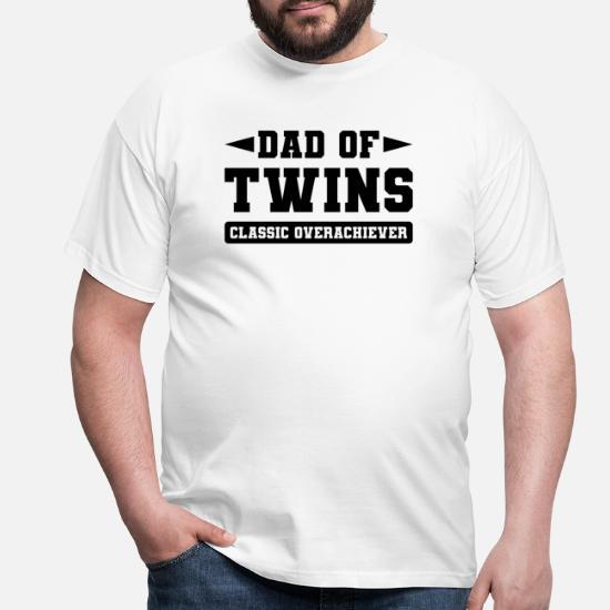Pappa med tvillinger T skjorte for menn | Spreadshirt