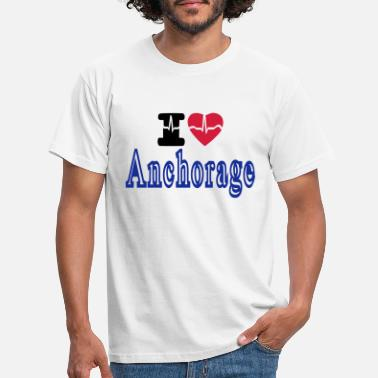 Anchorage i love Anchorage - Men's T-Shirt