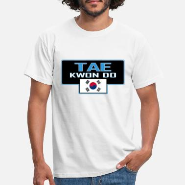 Fight MATS201 Tae kwon do large with korean flag - Men's T-Shirt