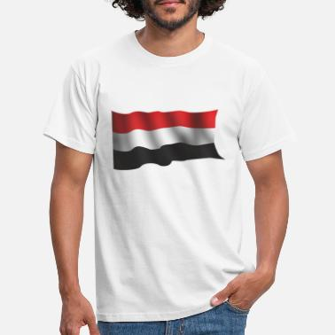 Yémen DRAPEAU NATIONAL WAVING YEMENS - T-shirt Homme