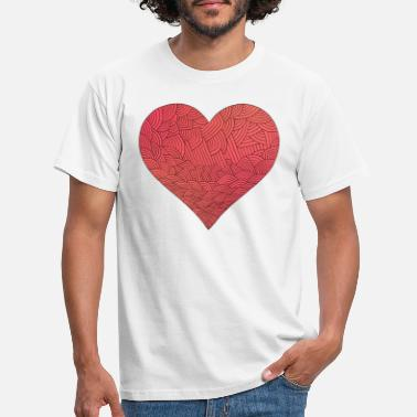 Rood rood hart rood hart Valentine's Day liebe7 - Mannen T-shirt