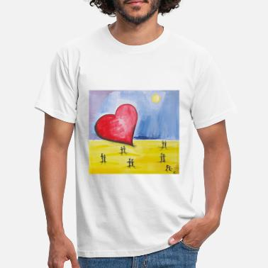 Strand Stranded heart - Men's T-Shirt
