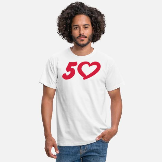 Birthday T-Shirts - 5 | 50 | Birthday | Geburtstag | Jubilee | - Men's T-Shirt white