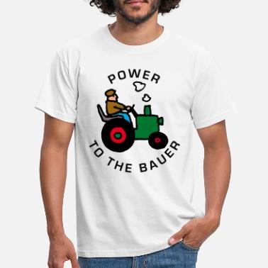 Traktor power_to_the_bauer_b - Männer T-Shirt