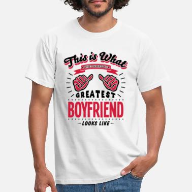 Boyfriend boyfriend worlds greatest looks like - Men's T-Shirt