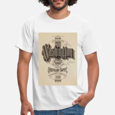 Vintage Washington 1903 design - T-shirt mænd