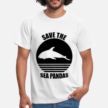 Ocean Red havet Pandas Killer Whale Nature Ocean - T-shirt mænd
