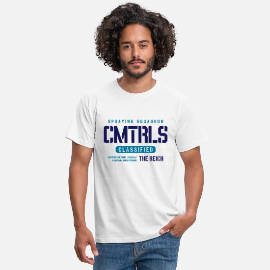 Skies T-Shirts - CMTRL -Spraying Squardon - Men's T-Shirt white