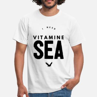 Meer I NEED VITAMINE SEA - Männer T-Shirt