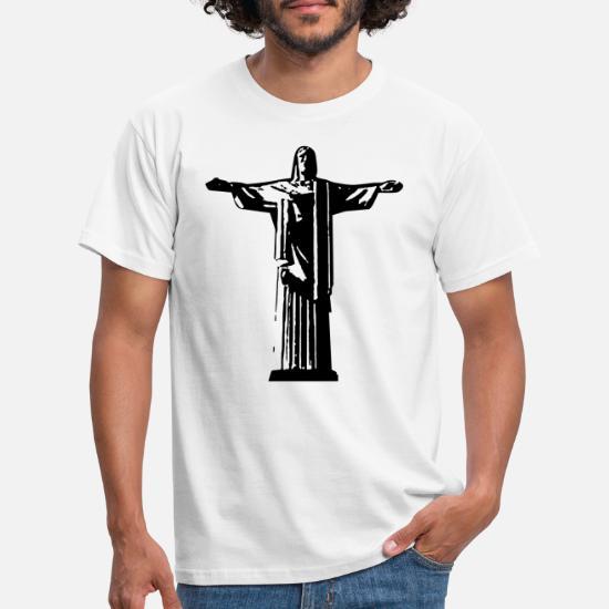 À HommeSpreadshirt T De Shirt Janeiro Rio Rédempteur Christ CtQdhrs