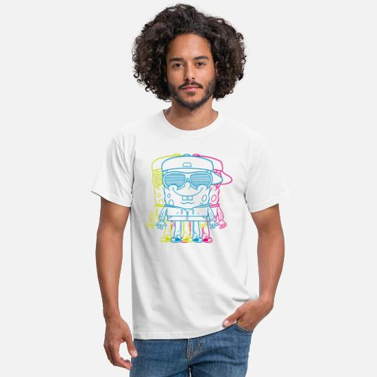 Cool T-shirts - Teenagers' Premium Shirt SpongeBob Triple - Mannen T-shirt wit