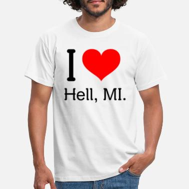 I Love Ny I love Hell - Men's T-Shirt