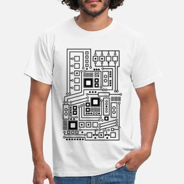 Circuit Circuit board pattern technique nerd - Men's T-Shirt