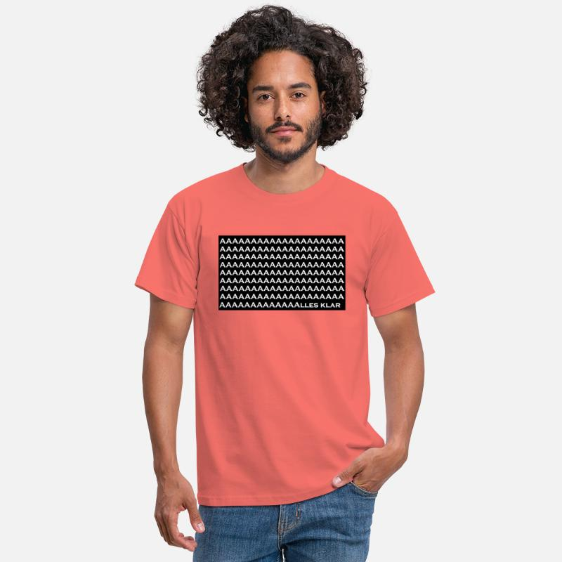 Inscope21 Alles Klar Männer T Shirt Koralle