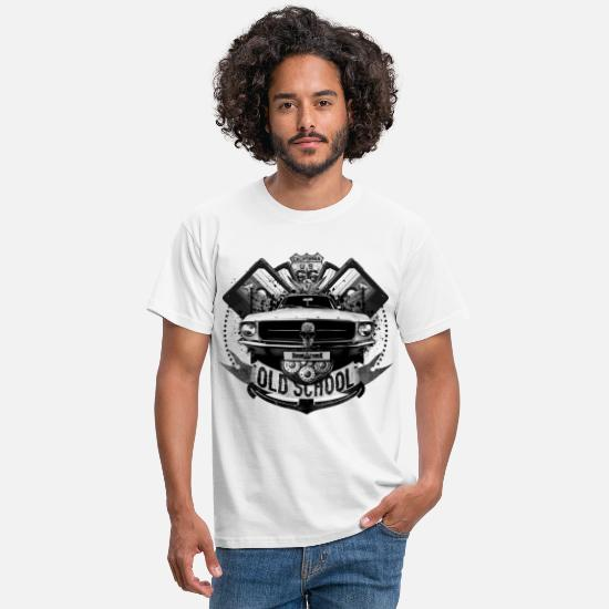 Old School T-shirts - Old school - T-shirt Homme blanc