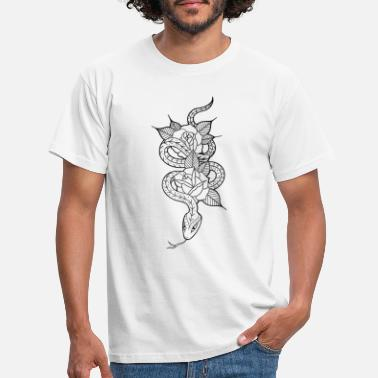 Procreation Snake and Roses - Men's T-Shirt