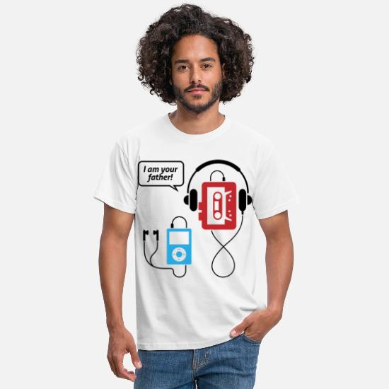 Funny T-Shirts - MP3 player, I am your father! - Men's T-Shirt white