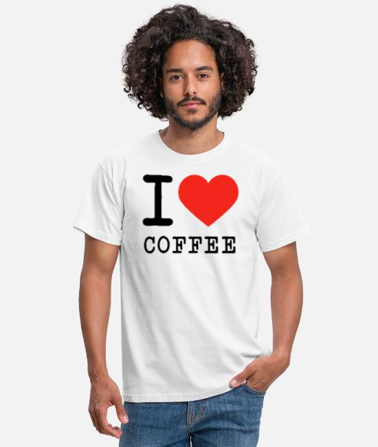 Love T-Shirts - I love coffee caffeine espresso junkie gift - Men's T-Shirt white