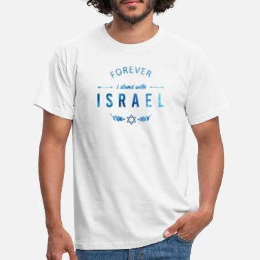 Israel Forever I stand with Israel - Aquarell Blau - Männer T-Shirt