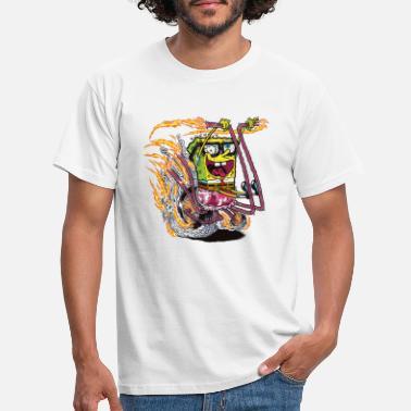 Officialbrands Teenagers' Premium Shirt SpongeBob on crazy wheels - Men's T-Shirt