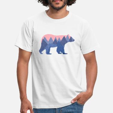 Animal Collection mountain bear - T-skjorte for menn
